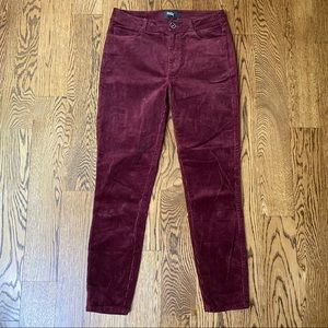 Paige Hoxton Ankle Red Corduroy Pants 28